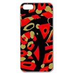 Red artistic design Apple Seamless iPhone 5 Case (Clear) Front