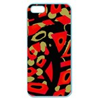 Red artistic design Apple Seamless iPhone 5 Case (Color) Front