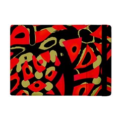 Red artistic design Apple iPad Mini Flip Case