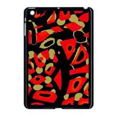 Red artistic design Apple iPad Mini Case (Black)
