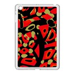 Red artistic design Apple iPad Mini Case (White) Front