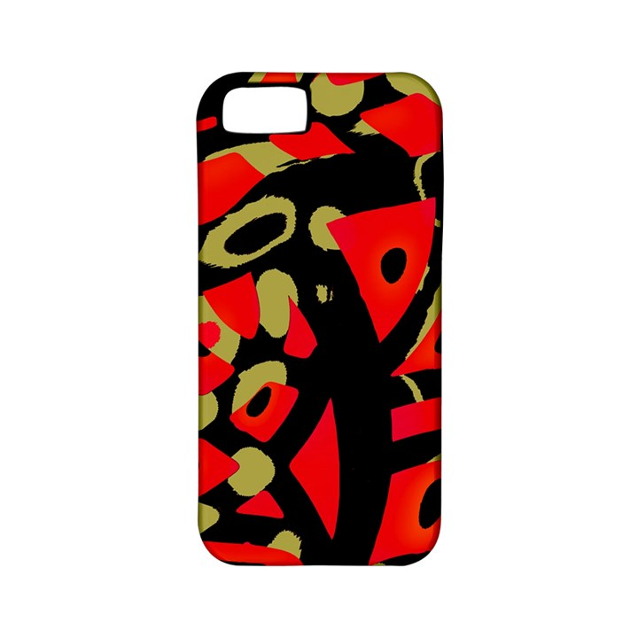 Red artistic design Apple iPhone 5 Classic Hardshell Case (PC+Silicone)