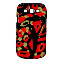 Red Artistic Design Samsung Galaxy S Iii Classic Hardshell Case (pc+silicone)