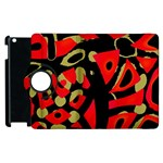 Red artistic design Apple iPad 2 Flip 360 Case Front
