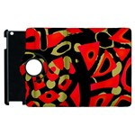 Red artistic design Apple iPad 3/4 Flip 360 Case Front