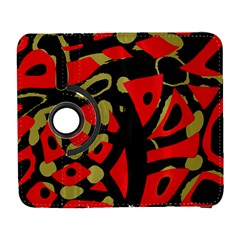 Red artistic design Samsung Galaxy S  III Flip 360 Case