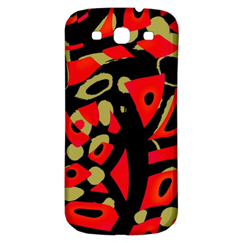Red artistic design Samsung Galaxy S3 S III Classic Hardshell Back Case