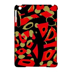 Red artistic design Apple iPad Mini Hardshell Case (Compatible with Smart Cover)