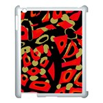 Red artistic design Apple iPad 3/4 Case (White) Front