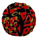 Red artistic design Large 18  Premium Round Cushions Front