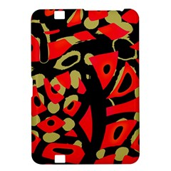 Red Artistic Design Kindle Fire Hd 8 9