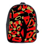 Red artistic design School Bags (XL)  Front