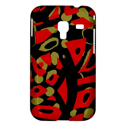Red artistic design Samsung Galaxy Ace Plus S7500 Hardshell Case
