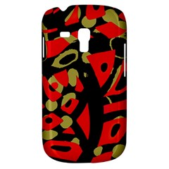 Red artistic design Samsung Galaxy S3 MINI I8190 Hardshell Case