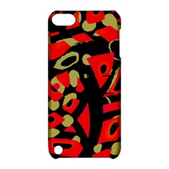 Red artistic design Apple iPod Touch 5 Hardshell Case with Stand