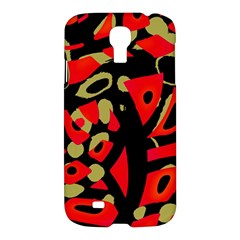 Red artistic design Samsung Galaxy S4 I9500/I9505 Hardshell Case