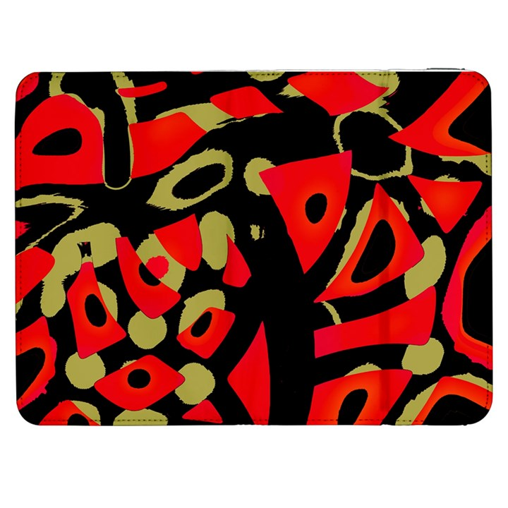 Red artistic design Samsung Galaxy Tab 7  P1000 Flip Case