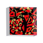 Red artistic design 4 x 4  Acrylic Photo Blocks Front