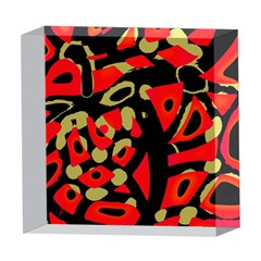 Red artistic design 5  x 5  Acrylic Photo Blocks