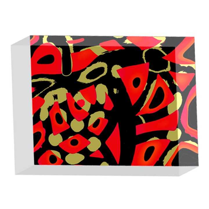 Red artistic design 5 x 7  Acrylic Photo Blocks