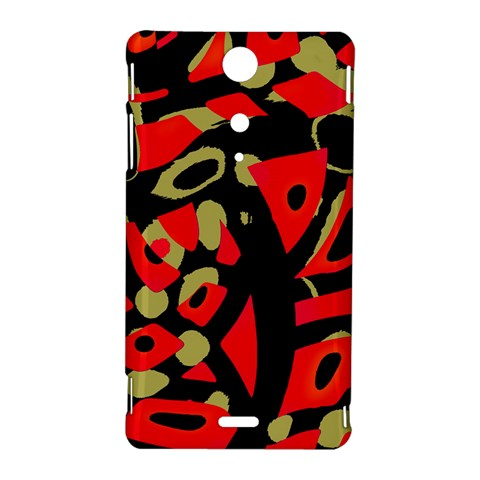 Red artistic design Sony Xperia TX