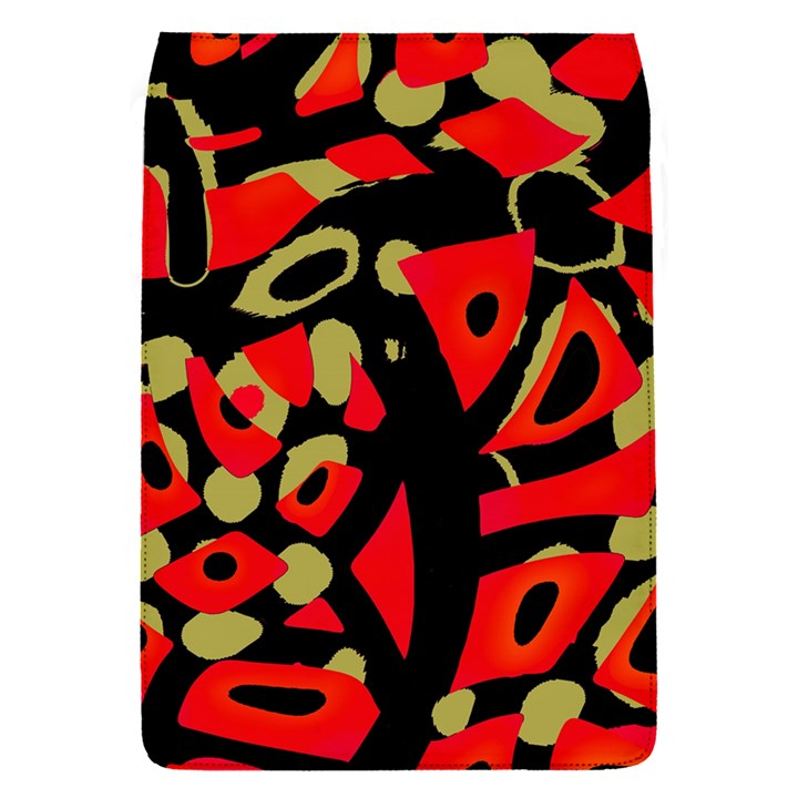 Red artistic design Flap Covers (S)