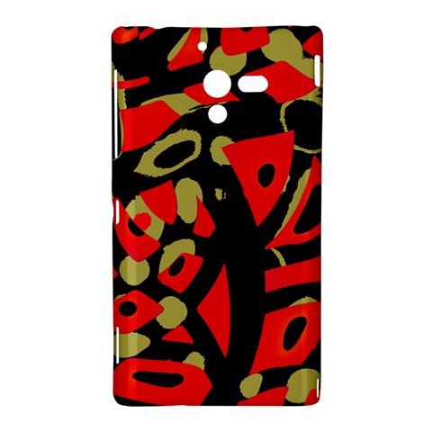 Red artistic design Sony Xperia ZL (L35H)