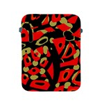 Red artistic design Apple iPad 2/3/4 Protective Soft Cases Front