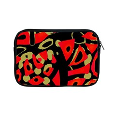 Red artistic design Apple iPad Mini Zipper Cases