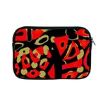 Red artistic design Apple iPad Mini Zipper Cases Front