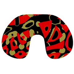Red artistic design Travel Neck Pillows
