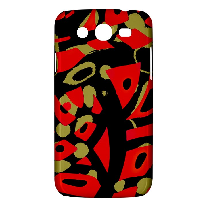 Red artistic design Samsung Galaxy Mega 5.8 I9152 Hardshell Case