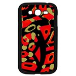 Red artistic design Samsung Galaxy Grand DUOS I9082 Case (Black) Front