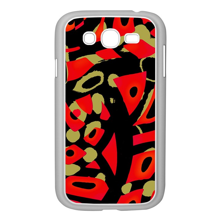 Red artistic design Samsung Galaxy Grand DUOS I9082 Case (White)