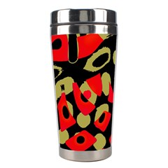 Red artistic design Stainless Steel Travel Tumblers