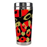 Red artistic design Stainless Steel Travel Tumblers Left