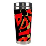 Red artistic design Stainless Steel Travel Tumblers Right