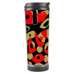 Red artistic design Travel Tumbler Left