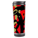 Red artistic design Travel Tumbler Center