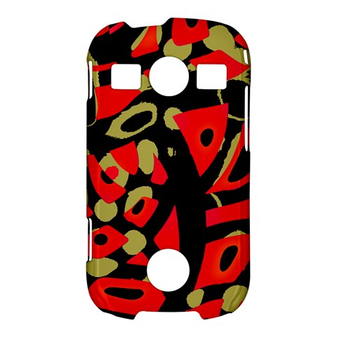 Red artistic design Samsung Galaxy S7710 Xcover 2 Hardshell Case