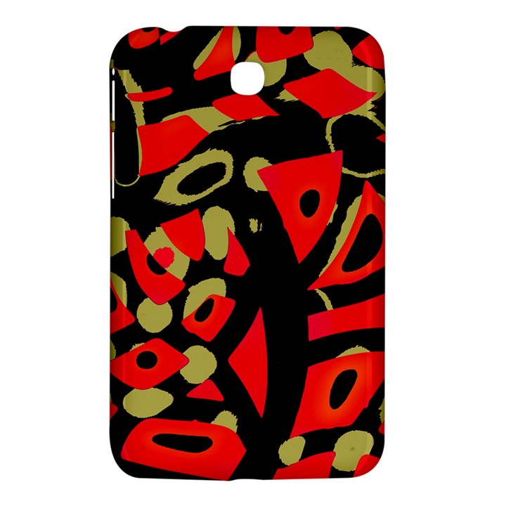 Red artistic design Samsung Galaxy Tab 3 (7 ) P3200 Hardshell Case