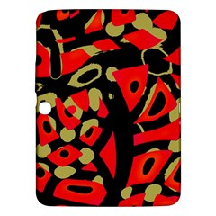 Red Artistic Design Samsung Galaxy Tab 3 (10 1 ) P5200 Hardshell Case