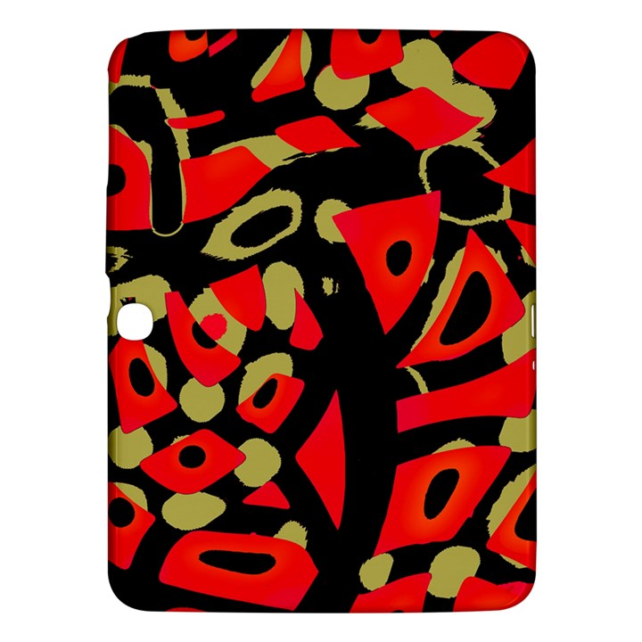 Red artistic design Samsung Galaxy Tab 3 (10.1 ) P5200 Hardshell Case