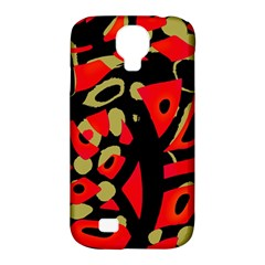 Red Artistic Design Samsung Galaxy S4 Classic Hardshell Case (pc+silicone)