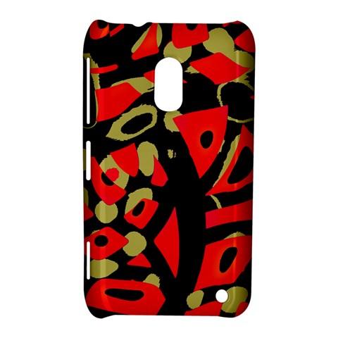Red artistic design Nokia Lumia 620