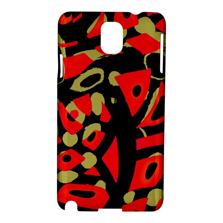 Red artistic design Samsung Galaxy Note 3 N9005 Hardshell Case