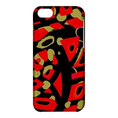 Red artistic design Apple iPhone 5C Hardshell Case