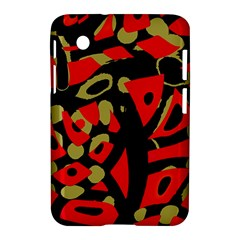 Red Artistic Design Samsung Galaxy Tab 2 (7 ) P3100 Hardshell Case