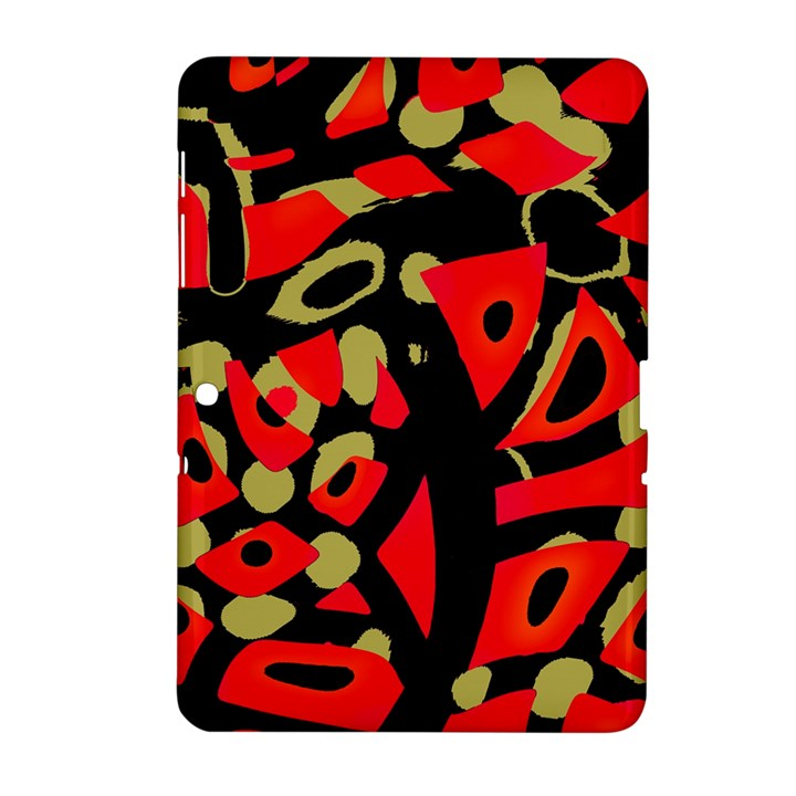 Red artistic design Samsung Galaxy Tab 2 (10.1 ) P5100 Hardshell Case