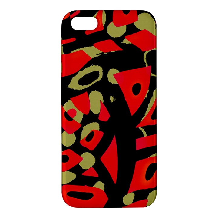 Red artistic design iPhone 5S/ SE Premium Hardshell Case